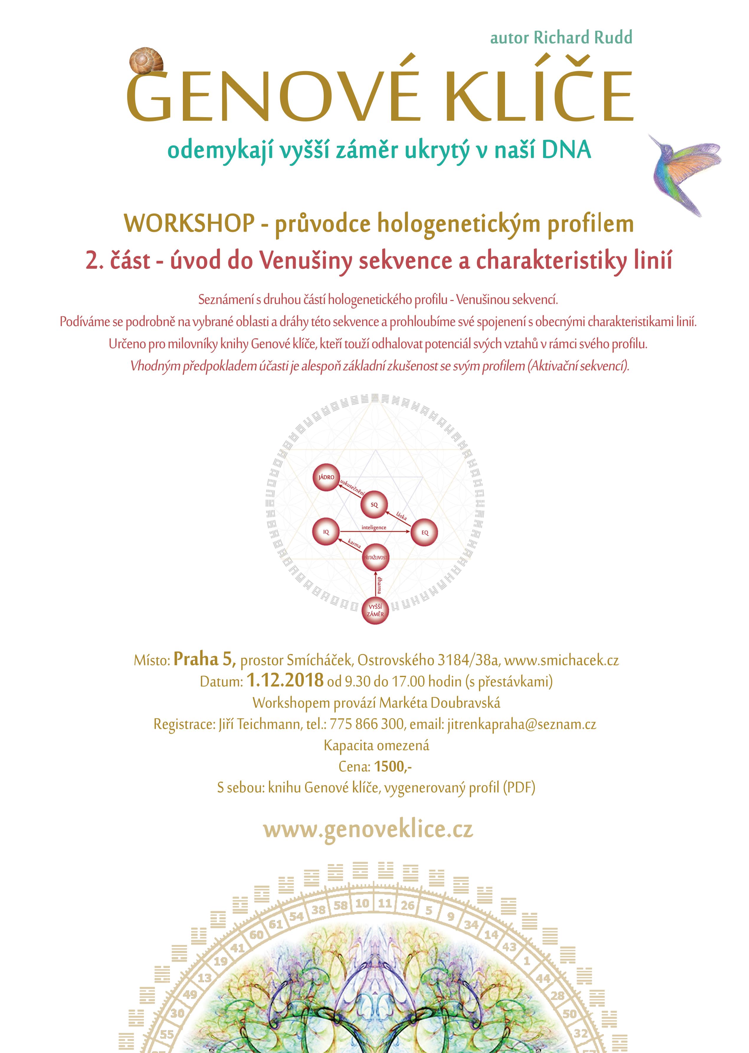 1.12.2018 workshop v Praze – úvod do Venušiny sekvence